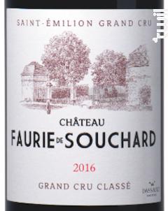 Chateau Faurie De Souchard - Château Faurie de Souchard - 2016 - Rouge