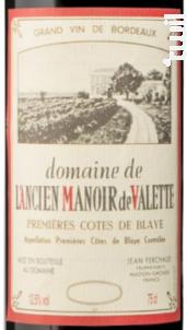 Manoir de Valette - Manoir de Valette - 1995 - Rouge