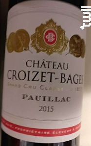 Château Croizet Bages - Château Croizet Bages - 2015 - Rouge