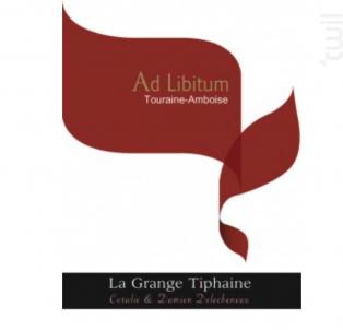 Ad Libitum - La Grange Tiphaine - 2015 - Rouge