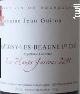 Les Hauts Jarrons - Domaine Jean Guiton - 2016 - Rouge