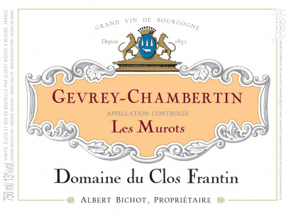 Gevrey-Chambertin Les Murots - Domaine du Clos Frantin - Domaines Albert Bichot - 2018 - Rouge
