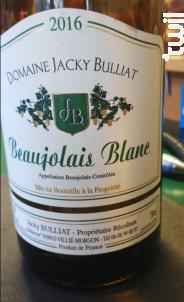 Beaujolais Blanc - Domaine Bulliat - 2018 - Blanc
