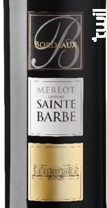 Merlot du Château Sainte-Barbe - Château Sainte-Barbe - 2014 - Rouge
