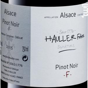 Pinot Noir F Hauller Frères - Domaine Louis Hauller - Non millésimé - Rouge