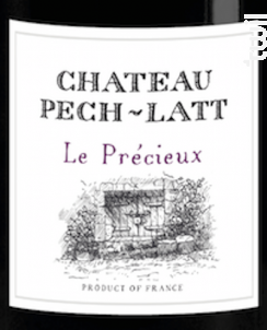LE PRECIEUX - Chateau Pech-latt - 2014 - Rouge