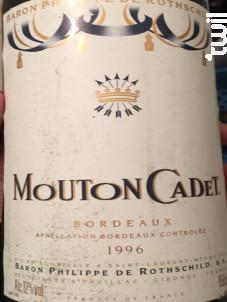 Mouton Cadet - Baron Philippe De Rothschild - 1996 - Rouge