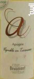 Apogée - Cave Beaumont du Ventoux - 2016 - Blanc