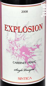 Explosion Cabernet Franc - Sintica Winery - 2015 - Rouge
