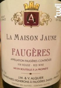 La Maison Jaune Faugères - Domaine Jean-Michel Alquier - 2013 - Rouge