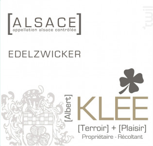 Edelzwicker - Albert Klee - 2020 - Blanc