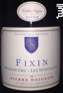 Fixin 1er Cru Les Hervelets - Domaine Pierre Naigeon - 2004 - Rouge