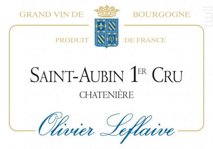 Saint-Aubin Premier Cru Chatenière - Maison Olivier Leflaive - 2014 - Blanc