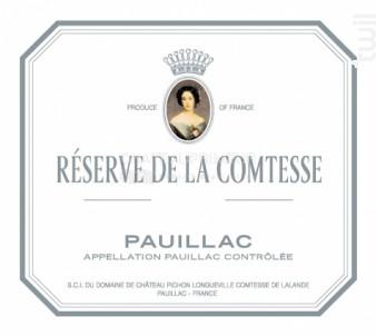 Réserve de la Comtesse - Château Pichon Longueville Comtesse de Lalande - 2016 - Rouge