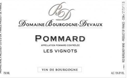 Pommard - Les Vignots - DOMAINE BOURGOGNE-DEVAUX - 2016 - Rouge
