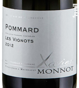 POMMARD Les Vignots - Domaine Xavier Monnot - 2015 - Rouge