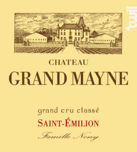 Château Grand Mayne - Château Grand Mayne - 2014 - Rouge