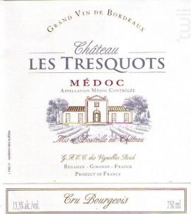 Château Les Tresquots - Château Les Tresquots - 2012 - Rouge