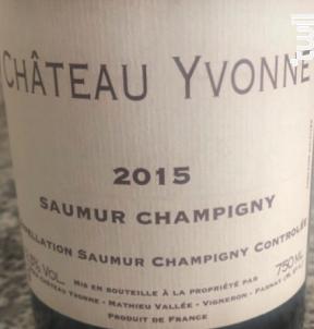 Château Yvonne Saumur Champigny - Château Yvonne - 2016 - Rouge