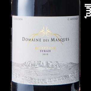 Exception Syrah - Domaine des Masques - 2018 - Rouge