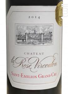Château la Rose Vircoulon - Château La Rose Vircoulon - 2014 - Rouge