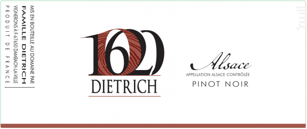 Pinot Noir - Famille Dietrich - 2016 - Rouge