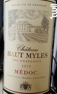 Château Haut Myles - Château Haut-Myles - 2012 - Rouge
