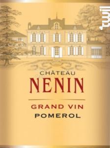 Château Nénin - Château Nénin - 2018 - Rouge