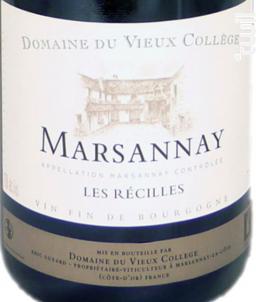 Les Recilles - Domaine du Vieux College - 2013 - Rouge