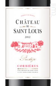 Château de Saint Louis AOP Corbières « Prestige » - Château de Saint Louis (SCEA) - 2016 - Rouge