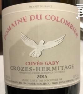 Cuvée Gaby Croze Hermitage - Domaine du Colombier - 2018 - Rouge
