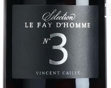N°3 - Domaine Le Fay d'Homme -  Vincent Caillé - 2018 - Rouge