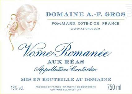Vosne-Romanée Aux Réas - Domaine A.F. Gros - 2012 - Rouge