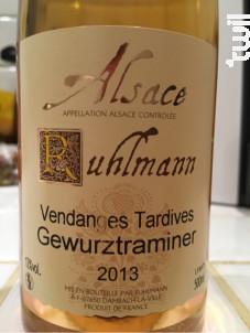 Gewurztraminer Vendanges Tardives - Vins Ruhlmann - 2004 - Blanc