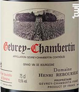 Gevrey-Chambertin - Aux Corvées - Domaine Henri Rebourseau - 2012 - Rouge
