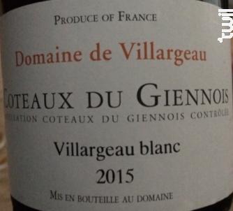 Domaine de Villargeau - Domaine de Villargeau - 2017 - Blanc