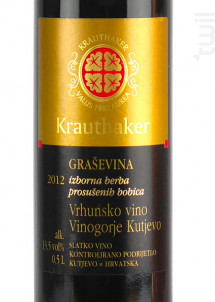 Grasevina IBPB Kutjevo (50cl) - Domaine Krauthaker - 2012 - Blanc