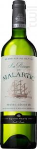 La Réserve de Malartic - Château Malartic-Lagravière - 2019 - Blanc