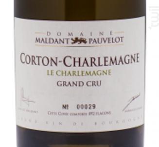 CORTON-CHARLEMAGNE Grand Cru « Le Charlemagne » - Domaine Maldant - Pauvelot - 2016 - Blanc