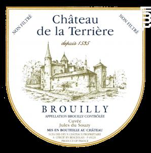 Brouilly Cuvée Jules du Souzy - Château de la Terrière - 2015 - Rouge