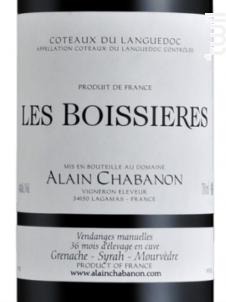 Les Boissières - Domaine Alain Chabanon - 2015 - Rouge