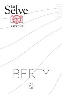 Berty - Château de la Selve - 2016 - Rouge