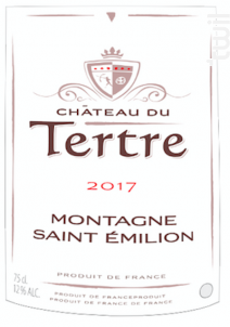 Château Du Tertre - Château du Tertre - 2016 - Rouge