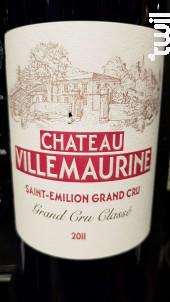 Château Villemaurine - Château Villemaurine - 2011 - Rouge