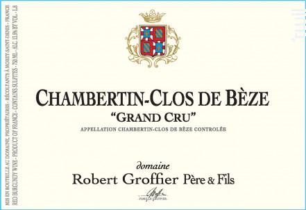 Chambertin-Clos de Bèze Grand Cru - Domaine Groffier Robert Père et Fils - 2015 - Rouge