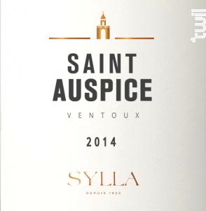 Saint Auspice - Les Vins de Sylla - 2016 - Rouge