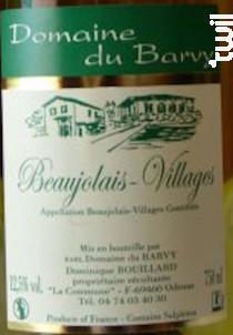 Beaujolais Villages - Domaine du Barvy - 2018 - Blanc