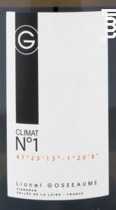 Climat N°1 - Domaine Lionel Gosseaume - 2016 - Blanc