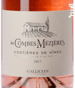 LES COMBES MEZIÈRE - La Cave de Gallician - 2017 - Rosé