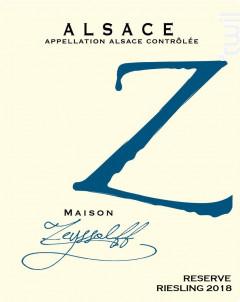 Riesling Reserve - Maison Zeyssolff - 2018 - Blanc